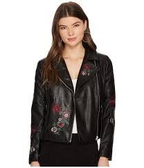 womens clothing coats bb dakota rannie embroidered moto jacket qvcbxe0526