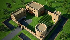 small castle house plans 3d