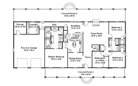 floor plan of a one story house. Traditional House Plan First Floor - 028D-0072 | Plans And More Of A One Story U