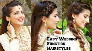 Easy Hairstyles On The Go 3 Easy Hairstyles For Indian Wedding Occasions For Medium Hair