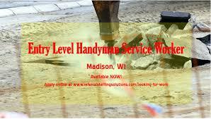 handyman madison wi. Plain Madison Entry Level Handyman Service Worker U2013 Madison WI And Madison Wi D