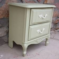 Shabby chic nightstand French Provincial French Provincial Nightstand Refinished Painted Furniture sha Ebay Best Chic Nightstands Products On Wanelo