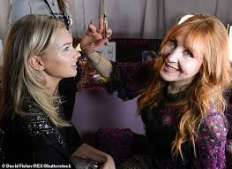 stunning celebrity makeup artist charlotte tilbury 45 pictured with elsa hosk