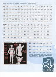 Wet Suit Size Chart