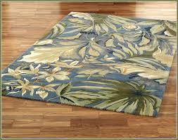 palm leaf area rugs delectably yours com palm leaves blue tropical beach area rug tropical rugs