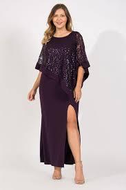 R M Richards Long Plus Size Mother Of The Bride Formal Cape Dress