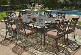cast patio table and chairs cast aluminum patio table