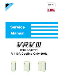 Daikin Rxq14p Specifications Manualzz Com
