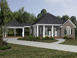ranch house plan front of home 069d 0115 house planore