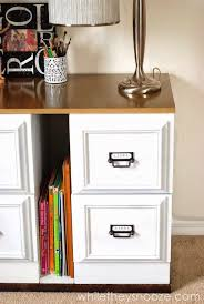 Designer Home Office Desks Fascinating 48 Filing Cabinet Makeovers New Uses For Filing Cabinets