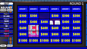 Jeopardy Rusnak Creative Free Powerpoint Games Template With
