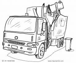 Small Picture Garbage Truck Coloring Page Crayon Action Coloring Pages