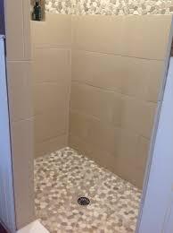 Bathroom Tile Shower Border Edging White Fall Door Decor Sink And
