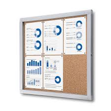 premium enclosed bulletin board indoor and outdoor cork board
