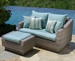 image of beautiful outdoor wicker furniture cushions