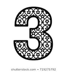 number 3 template 500 arabic numbers pictures royalty free images stock photos