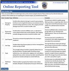 File A Police Report Online Mpdc