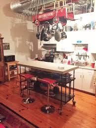 Industrial Kitchen Island Kitchen Island With Drawers And An Open
