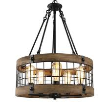 lnc eliora farmhouse 5 light black