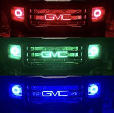 Light Up Car Emblems Illuminated Gmc Led Emblem Logo Rgb Flow Series