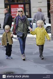 Naomi Watts seen with her two children ...