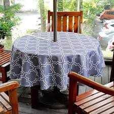 tablecloth round outdoor with umbrella hole fitted uk 70