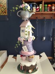 Top Hat Cake Designs Alice In Wonderland Wedding Cake Top Hat Cake Teapot Cake