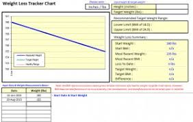 Weight Loss Tracker Chart My Excel Templates