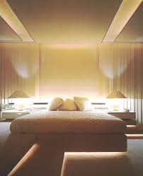 concealed lighting. \u002780s Bedroom With Suspended And Concealed Lighting