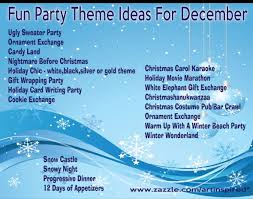 Christmas Party Themes. As if I need an excuse for a party :)