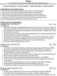 Resume Samples For Tester And Quality Control Specialist