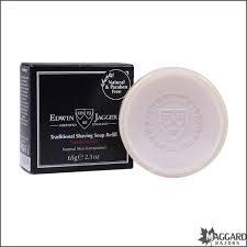 edwin jagger sandalwood travel shaving soap refill puck
