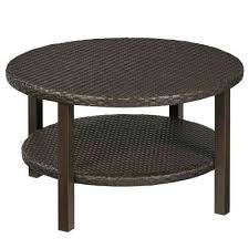 round wicker end table outdoor coffee table with shelf wicker patio set with umbrella hole round wicker end table
