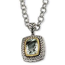 2 4 days green amethyst gemstone pendant necklace