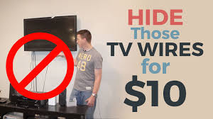 How To Hide A Hanging Tvs Unsightly Wires For Less Than 15