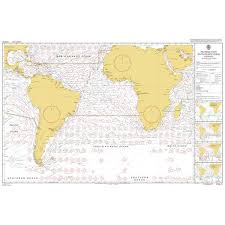 Routeing Charts Information Admiralty Chart 5125 02 Routeing South Atlantic Ocean February