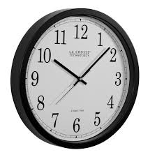 la crosse technology wt3143 14 inch atomic wall clock with black frame