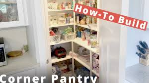 how to build a walk in corner pantry diy project woodworking