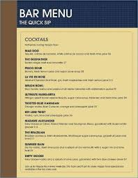 Drink Menu Template Templates Found Happy Hour – Traguspiercing.info