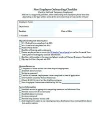 Sample Orientation Checklist For New Employee Sample New Hire Checklist Template Threeroses Us