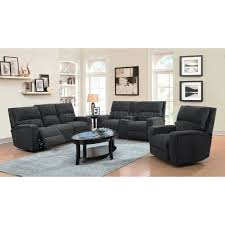 acura power reclining sofa in dark gray