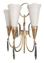 arum triple lights wall lamp from royal lumières 1950s for at pamono