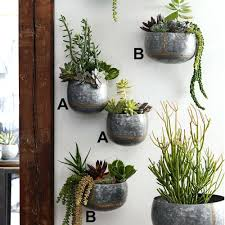galvanized wall pocket planter home organization 3 organizer