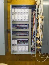 glen s home automation using din rail mount terminal blocks for completed panel covers installed on the plastic cable channels all wiring now hidden connections very neat using the terminal blocks