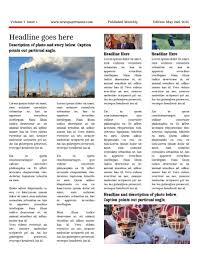Free Front Page Newspaper Template Newspaper Templates For Students