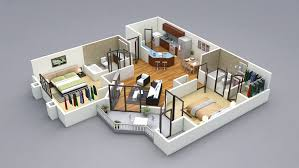 Small Picture 3D Floor Plans 3D Home Design Free 3D Models
