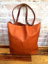 large camel brown leather tote bag oversized brown leather tote bag large leather bag