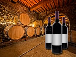 oak wine barrels. wine bottles with oak barrels l