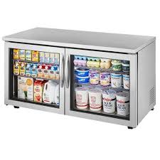 true gdm 05pt hc ld 24 2 shelf countertop pass thru refrigerated