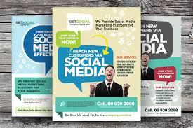 social media marketing flyers flyer templates on creative market